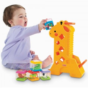 Girafa e Blocos Fisher-Price Pick a Blocks B4253