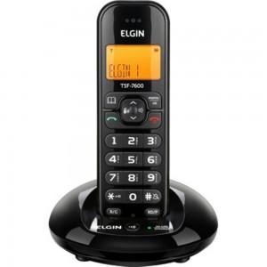 Telefone sem Fio com identificador TSF7600 Preto Elgin